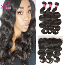 Full Frontal Lace Closure 13X4 With Bundles Mongolian Body Wave With Frontal Stema Hair With Closure Human Hair With Closure