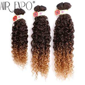 Синтетические волосы для наращивания, 14-18 дюймов, с волнистыми прядями, Омбре, фиолетовые жучки, 6 шт./упак.