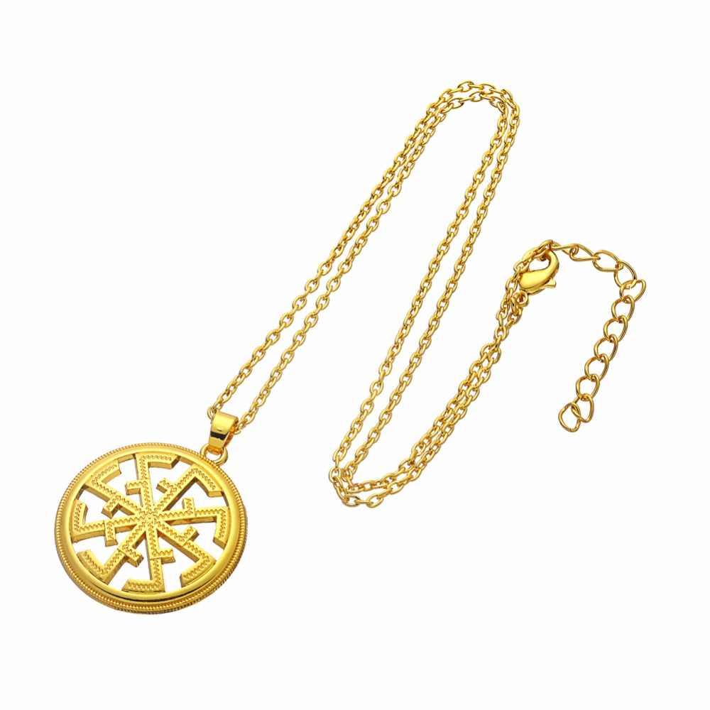 Крючок серебро и золото Цвет российский славянский кулон ожерелья цепь амулет подвески ожерелья Человек colar masculino