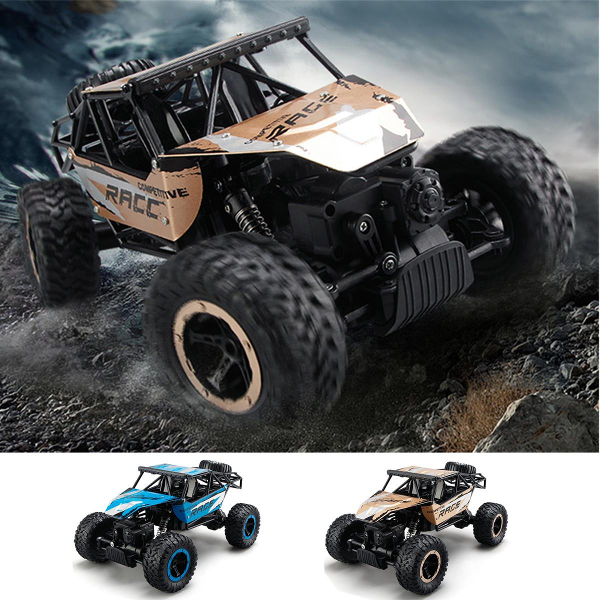 2.4G Remote Control 4WD RC Monster Truck Off-Road Vehicle Buggy Crawler Car New USB 4WD Die-cast Off-road Vehicle rc car amphibious rock crawler car 4wd 2 4g dual motor waterproof monster truck remote control off road vehicle toys kids hobby