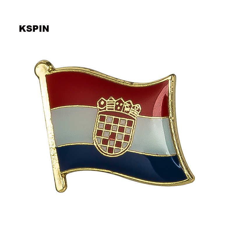 Bendera Nasional Lencana untuk Ransel Pin Bros Set Dekoratif Tombol untuk Pakaian Dapat Memilih