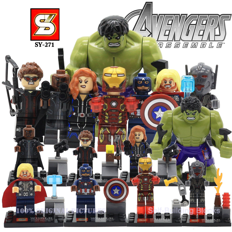 Sy271 marvel the avengers 2 age of ultron action mini figures hulk...