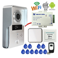 Free Shipping Wireless POE Wifi IP Doorbell Camera for Phone Remote View Metal Outdoor RFID Access Video Intercom + Indoor Bell