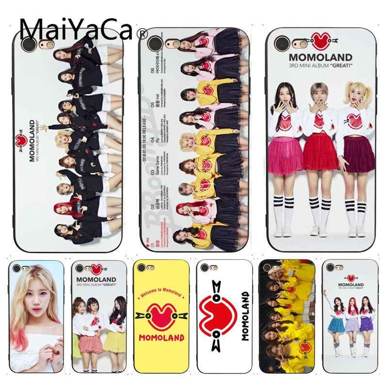 MaiYaCa K-pop Momoland Hot Selling Design Skin Thin Cell Case for iPhone X 6 7 6s 7plus 8 8Plus 5 5S XS XR SE Case