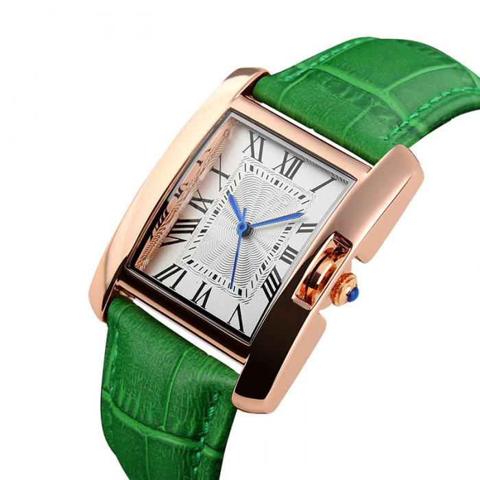 Red Green Fashion New Quartz Watch Lovers Watches Women Men Genuine Leather Casual Wristwatches For Couple Watch Gift LL south korea creative concept fashion personality women men couple watches new trend minimalist gift watches