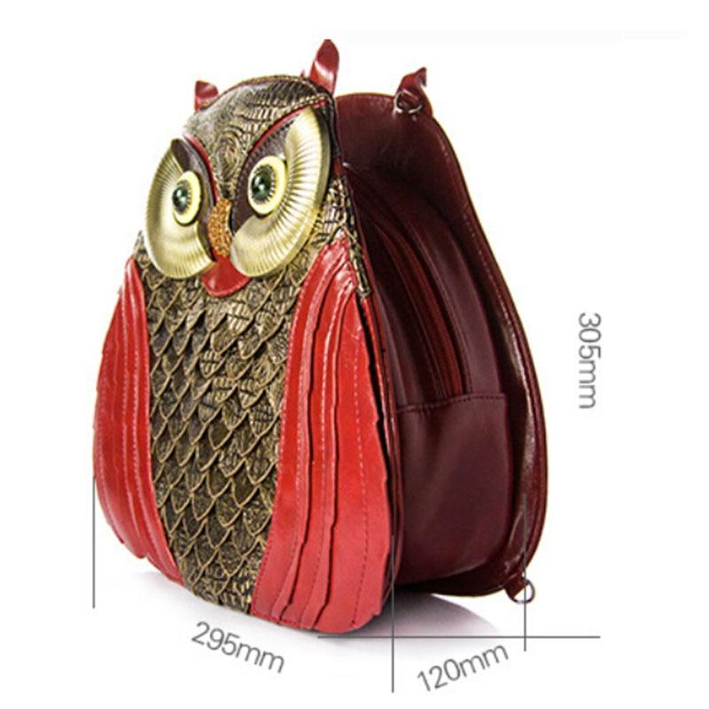 Nouveau dames délicatesse hibou motif Messenger sacs nouveauté qualité Animal forme Unique motif femmes marque conception à la main sacs à main - 3