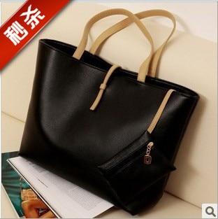 Free shipment Fashionable women's handbag casual handbag shoulder bag messenger bag solid color messenger bag