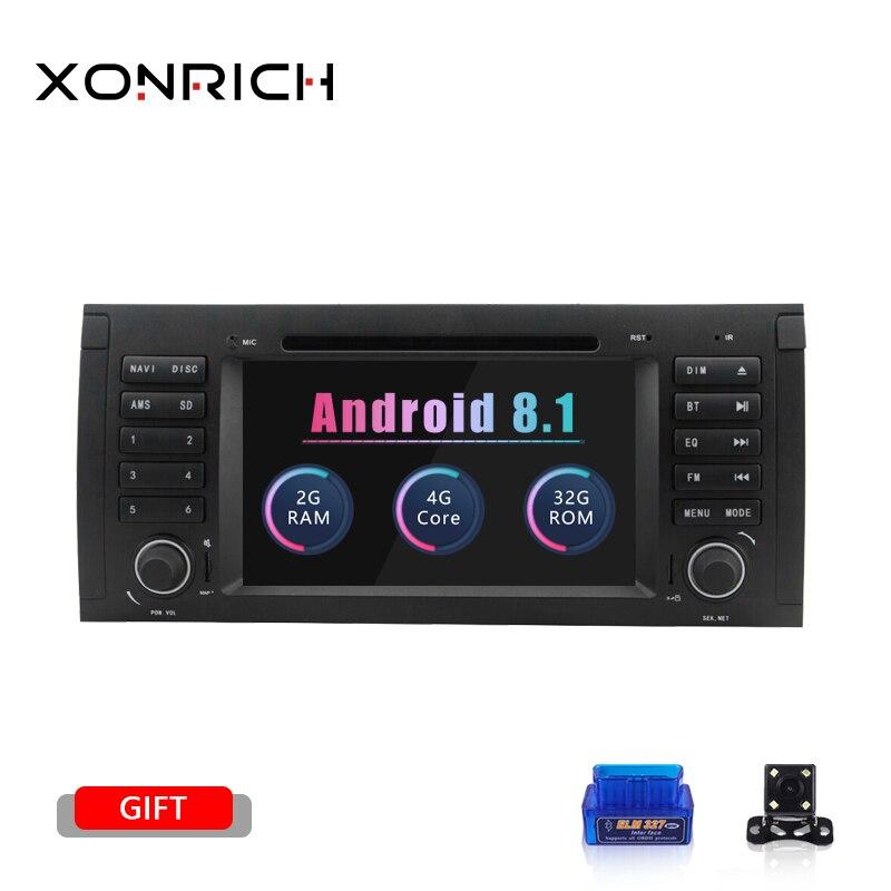 Din Android 8.1 Jogador Do Carro DVD Para BMW X5 1 E53 E39 GPS Unidade de Cabeça Tela de Navegação Multimídia de Áudio Estéreo dvd automotivo 2 GB