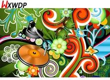WXWDP 3D diamond embroidery square diamond sets full decorative diy diamond painting diamond cross stitch crystal Music zone