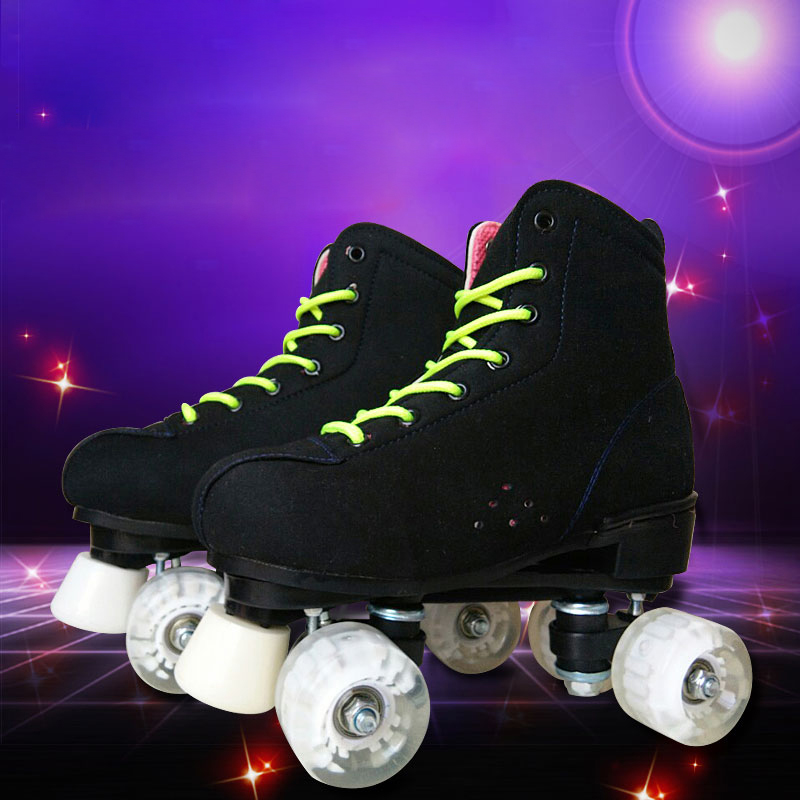 Adult Children Two Line Roller Skates Double Row 4 Wheel Slalom Skating Shoe Good Quality as SEBA PU leather Gifts For Kids IB32 reniaever double roller skates skating shoe gift girls black wheels roller shoe figure skates white free shipping