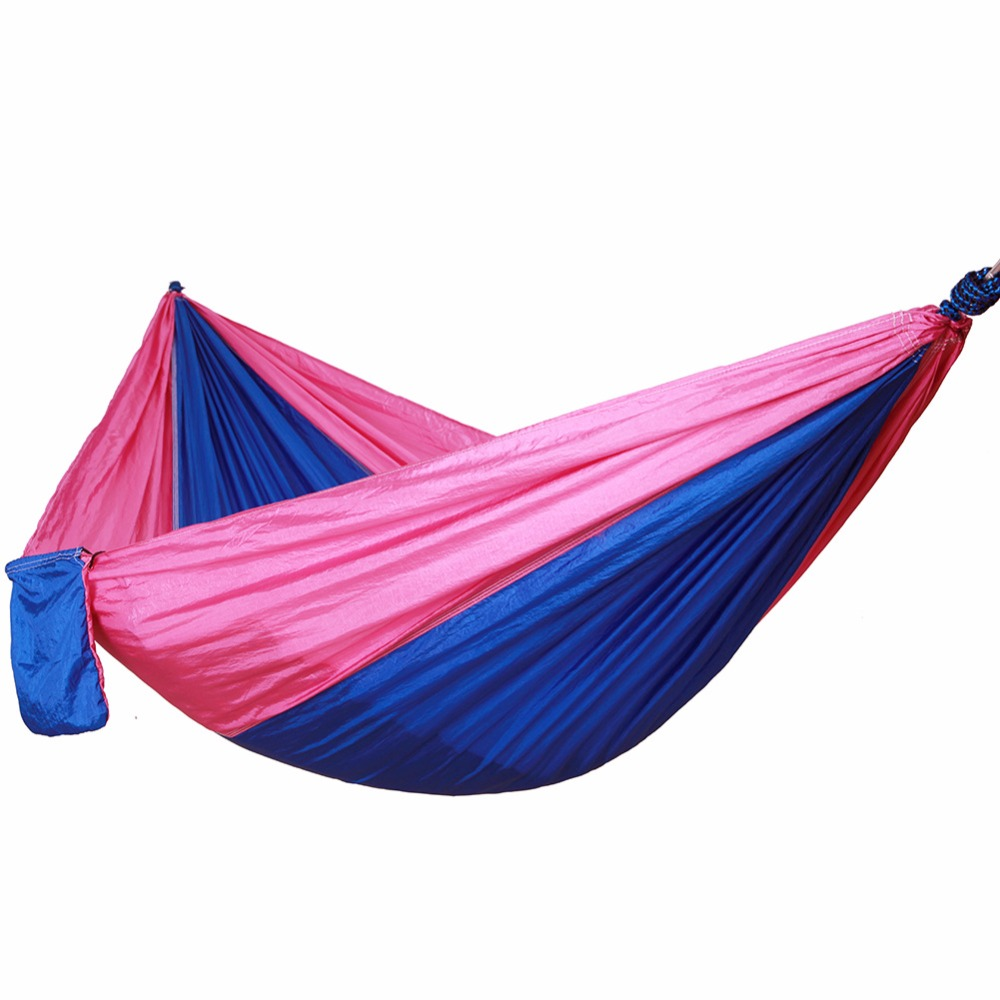 Double-person Item Hammock Camping Survival Parachute Cloth Portable Folding Ultralight Casual Hiking Travel Hammocks 260*140 CM 2 people portable parachute hammock outdoor survival camping hammocks garden leisure travel double hanging swing 2 6m 1 4m 3m 2m