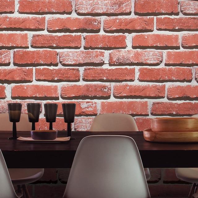 Aliexpress.com : Buy HaokHome Modern Faux Brick Wallpaper Red/Grey ...