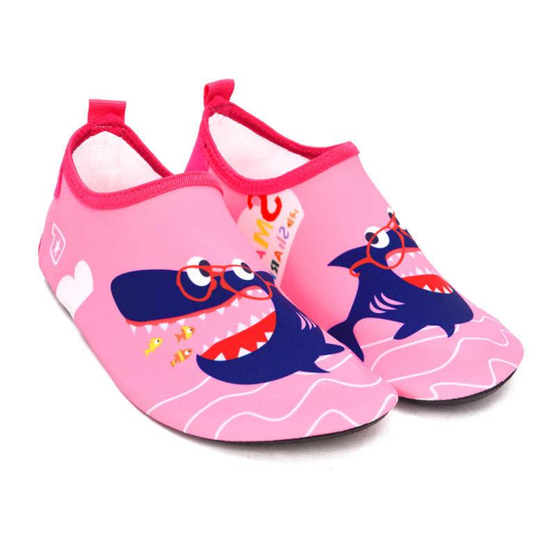 ילדי קיץ נעלי בית קריקטורה דינוזאור מים נעלי ילדים יחפים נעלי בנות חוף נעלי בני בריכת כפכפים מהיר ייבוש