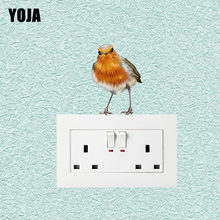 YOJA Interesting Birds On The Branches Decor Wall Switch Sticker Living Room Bedroom Decals Personalized 10SS0428