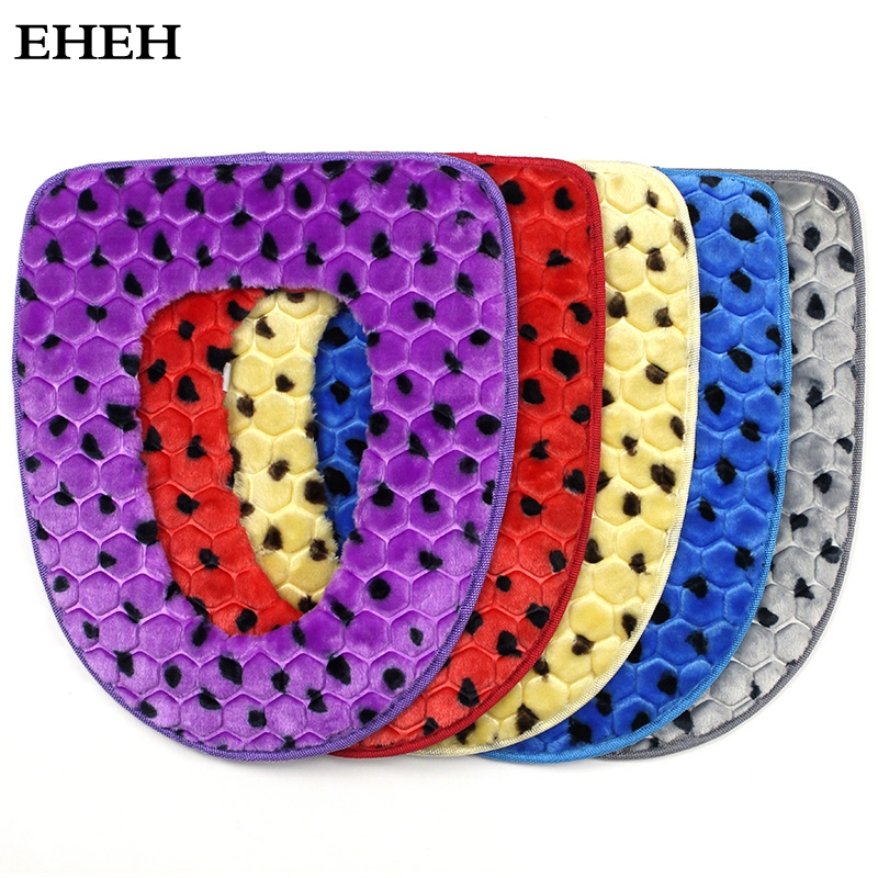 EHEH Eco-Friendly Bathroom toilet seat case Black point Plush 37*43cm toilet seat cushion 5 Colors A toilet seat covers EH021