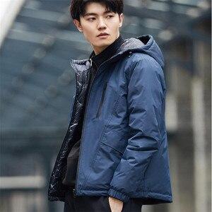 Image 4 - Xiaomi Uleemark mens double faced down jacket 90% goose down waterproof zipper double sided wearable waterproof jacket