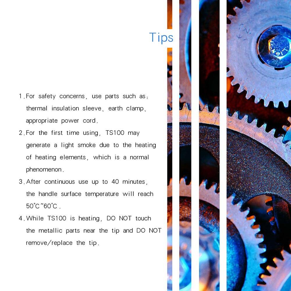 Azul ts100 caneta tipo mini programável inteligente