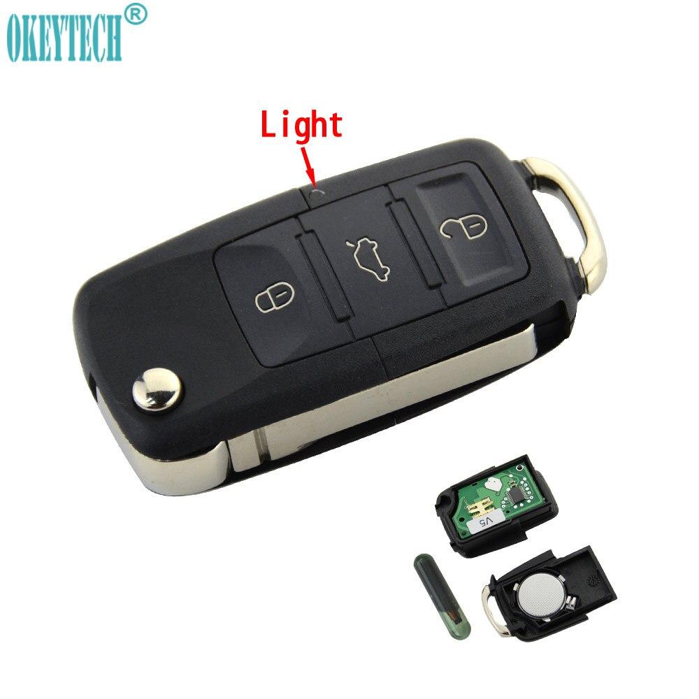 OkeyTech Car Remote Key for 1K0959753N 1K0959753 1K0959753G 5FA009263-10 V5 ID48 for VW PASSAT b5 b6 Skoda CADDY GOLF JETTA POLOOkeyTech Car Remote Key for 1K0959753N 1K0959753 1K0959753G 5FA009263-10 V5 ID48 for VW PASSAT b5 b6 Skoda CADDY GOLF JETTA POLO