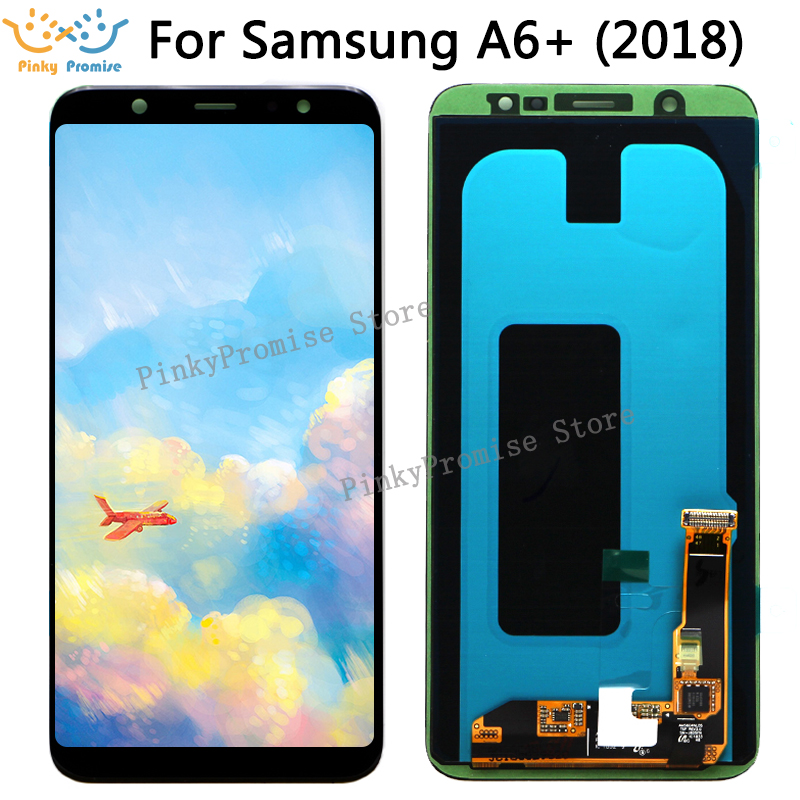 6 0 SUPER AMOLED LCD for SAMSUNG A6 Plus 2018 Display A605 A6 Plus 2018 Display