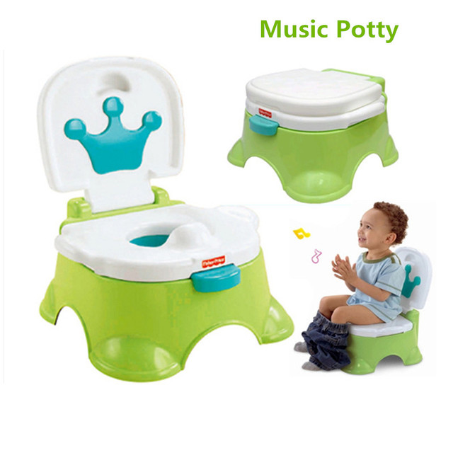 Children's Potty New Brand Cartoon Music Portable Toilet Urinal for bebies Kids Trainers Seat Pot Baby Seat Restroom Baby care