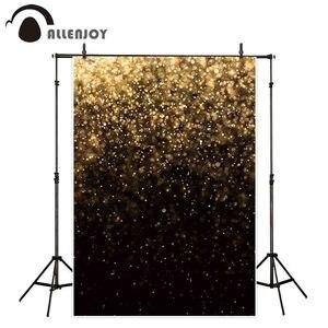 Image 2 - Allenjoy מסיבת selfie צילום רקע זהב שחור bokeh רקע נצנצים שיחת וידאו תמונה סטודיו לירות תפאורה אבזר יוקרה