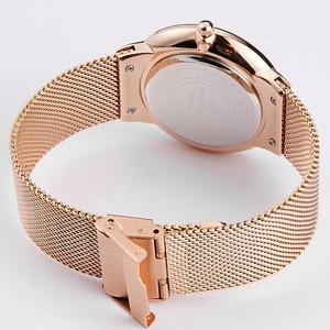 Image 5 - Women Watches Top Brand Luxury Japan Quartz Movement Stainless Steel Sliver White Dial Waterproof Wristwatches relogio feminino