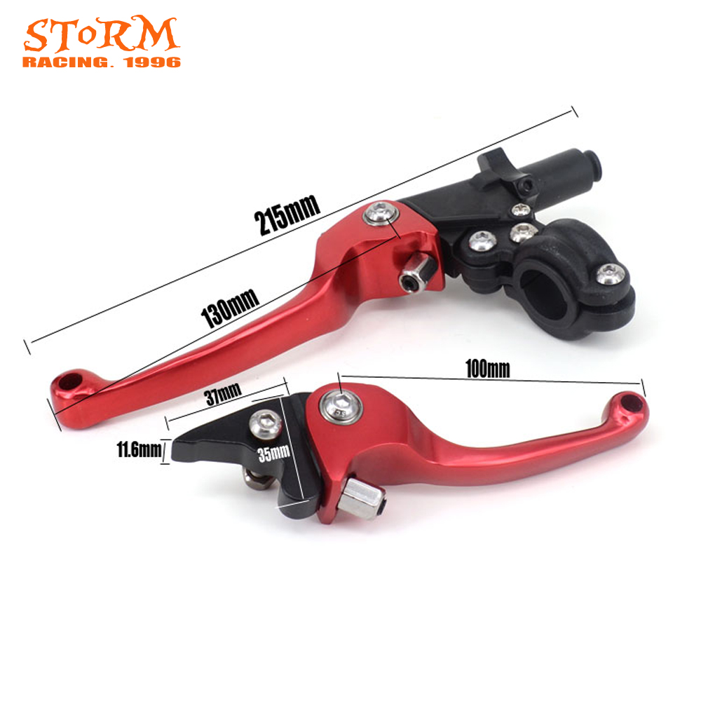 Motorcycle CNC 22mm Modify ASV F3 Foldable Brake Clutch Levers For Honda Yamaha Kawasaki Suzuki ATV Dirt Pit Bike