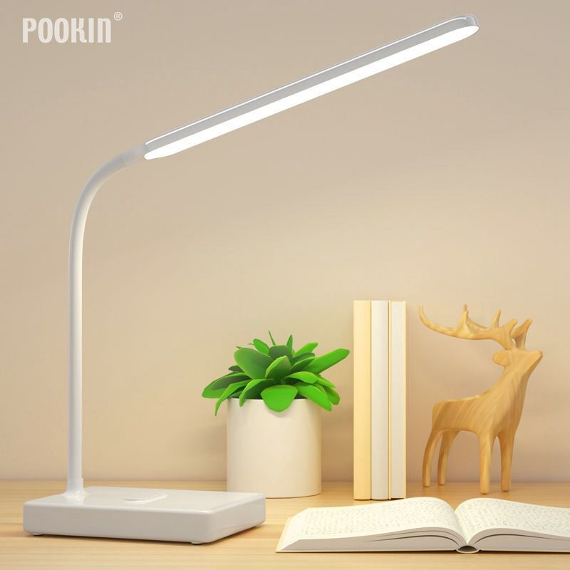 USB Rechargeable LED Foldable Desk Lamp Eye Protection Touch Dimmable Reading Table Lamp Led Light 3 Level Color