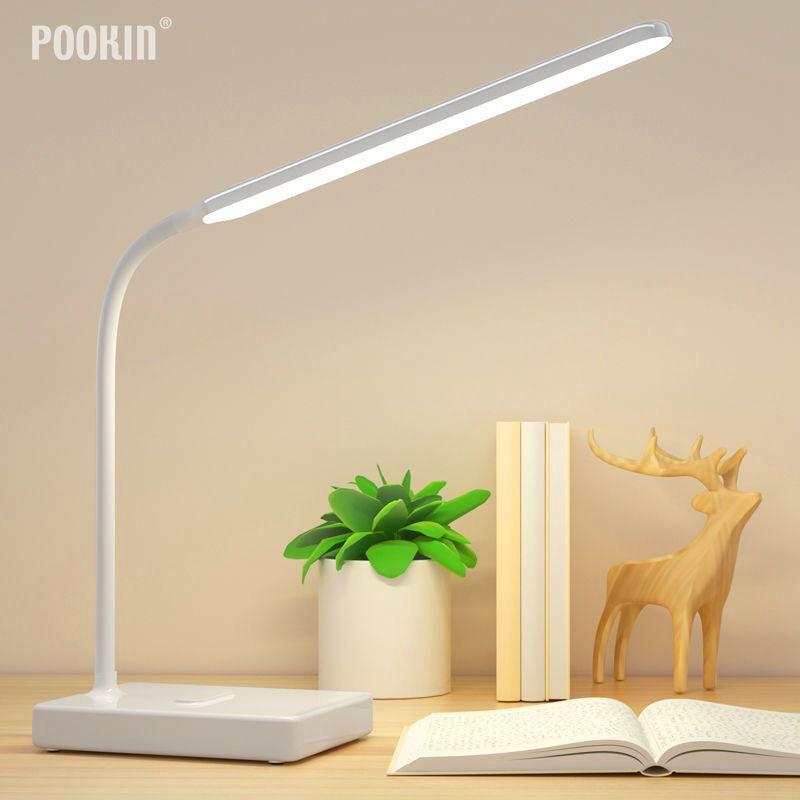 Usb 충전식 led 접이식 책상 램프 눈 보호 터치 디 밍이 가능한 독서 테이블 램프 led 빛 3 레벨 색상