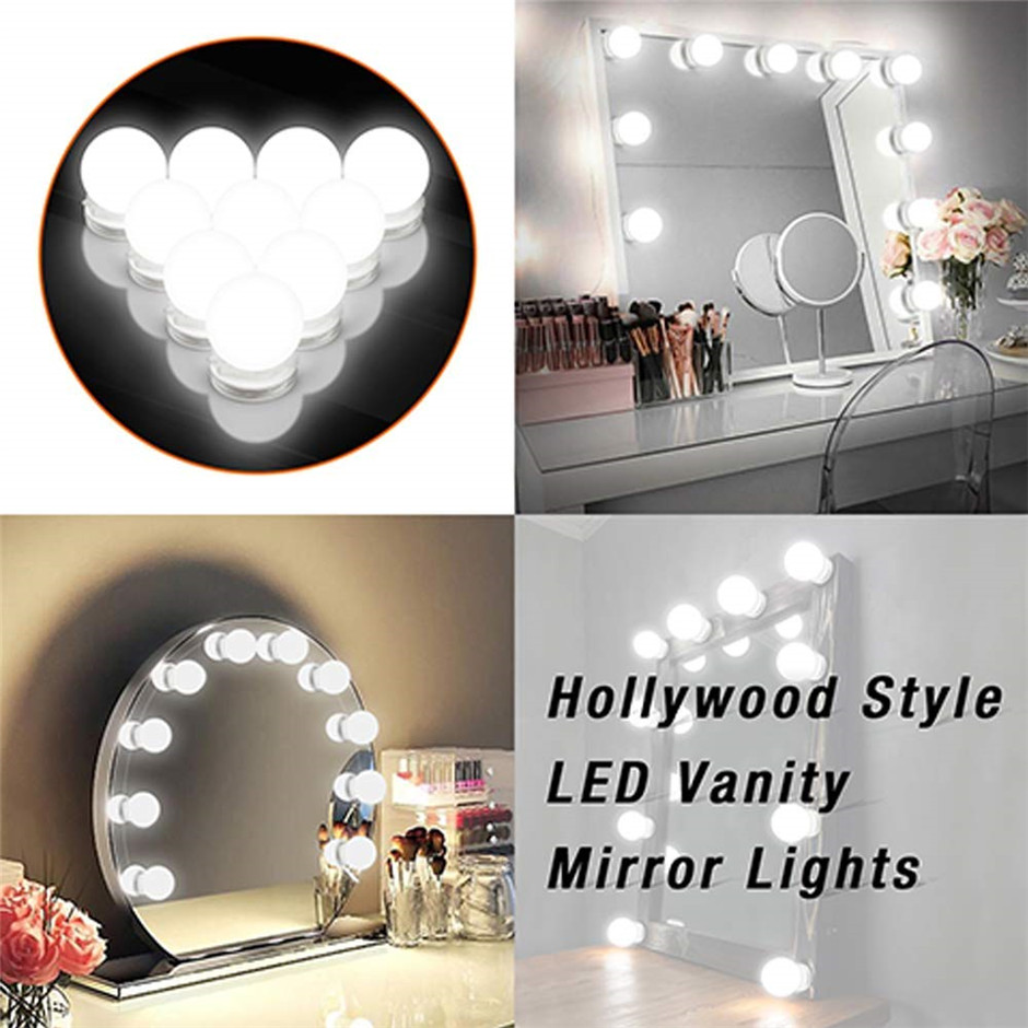 Lights & Lighting Adroit Diy Hollywood Style Makeup Mirror Led Light With Touch Dimmer Power Supply Led Bulb Chain Vanity Mirror Lamp For Dressing Table To Assure Years Of Trouble-Free Service