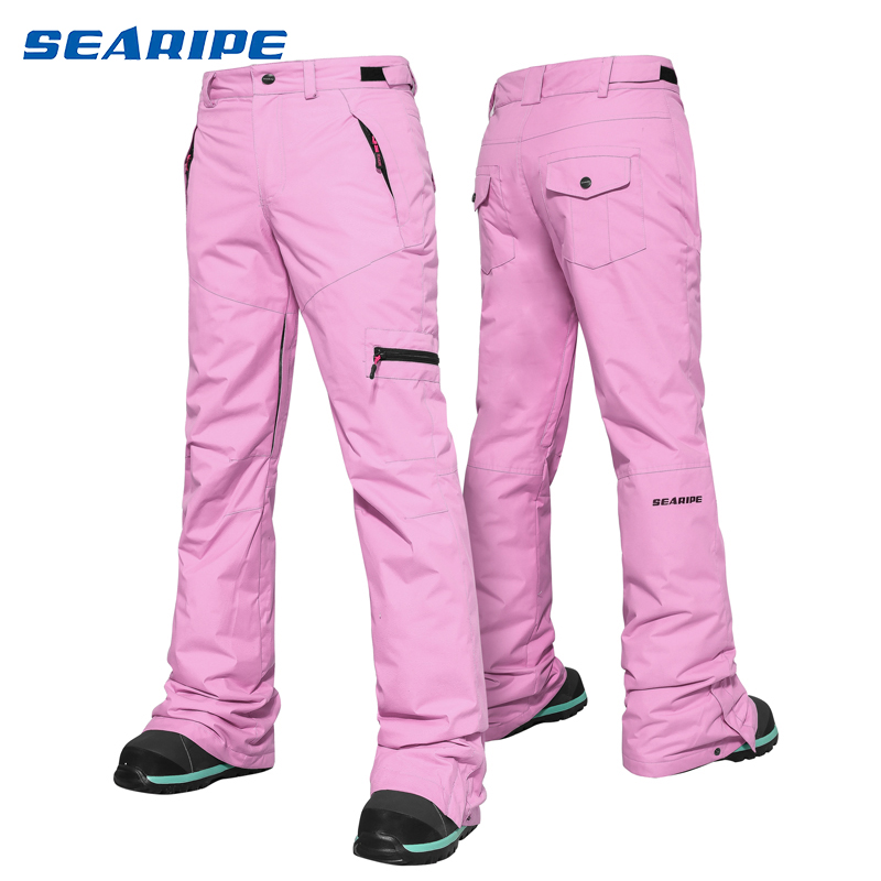 SEARIPE Ski Pants Women Outdoor High Quality Windproof Waterproof Warm Couple Snow Trousers Winter Ski Snowboard Pants Brand