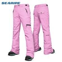 SEARIPE лыжные штаны женские уличные высококачественные ветрозащитные водонепроницаемые теплые парные зимние брюки зимние лыжные сноубордические штаны брендовые