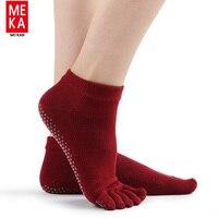 להחליק חמישה טו גרבי נשים ללא yoga מותג כותנה סוקס meias calcetines דפורטה דחיסת calze ciclismo קרסול גרבי טאבי