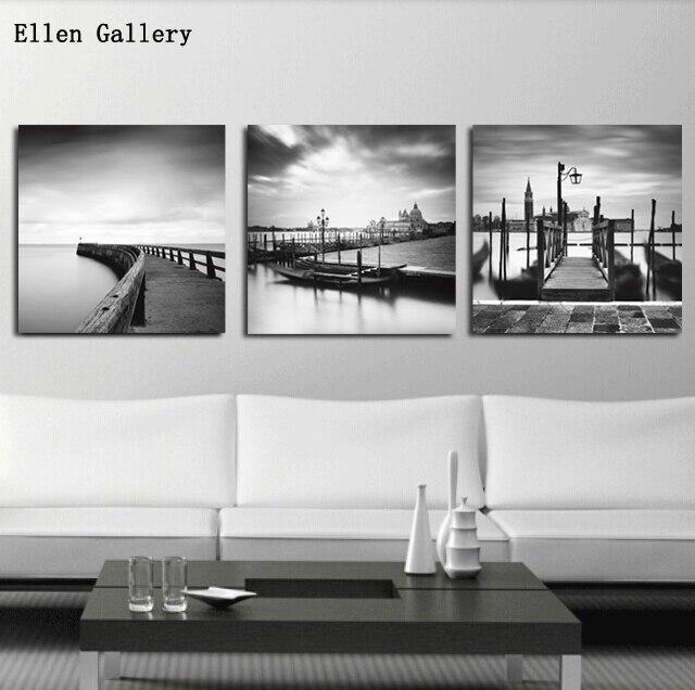 Blanco y negro dockside wall im genes para sala lienzo de for App decoracion hogar
