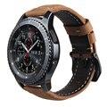 V-MORO Натуральная Кожа Ремень Для Передачи S3 Smart Watch Band Замена Смотреть Браслет Для Передач S3 Классический границы Smart watch