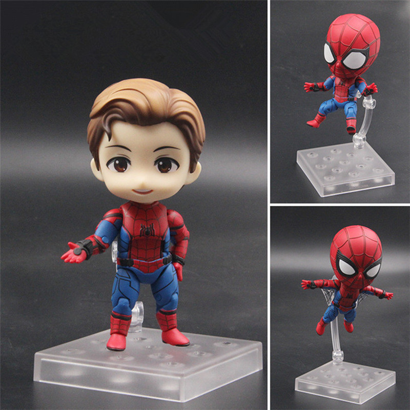 Marvel Avengers SpiderMan Homecoming Nendoroid 781 Cute Spiderman Kawaii Spider Man Collection Model Toy Retial Box