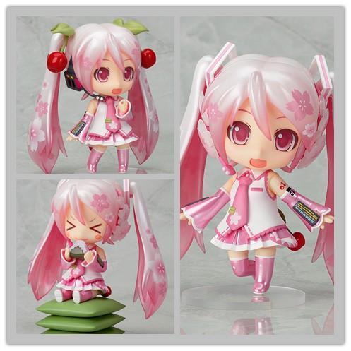 "Anime Cute Nendoroid 4"" Hatsune Miku 274# Sakura Miku PVC Action Figure Collectible Model Toy Doll 10CM KT092 1"