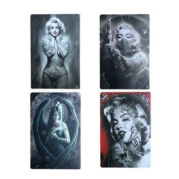 Cartel de cubierta Sexy para chica, placas Retro de metal decorativo Estilo Vintage, placas de café, Club, oficina, salón, placa de bar, decoración de pared para el hogar 20x30