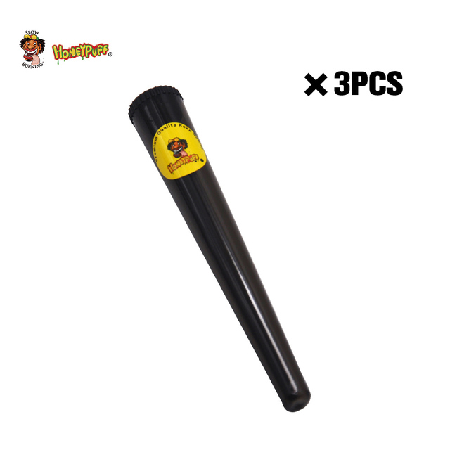 HONEYPUFF Plastic King Size Tube Doob 115 MM Vial Waterproof Airtight Smell Proof Odor Cigarette Solid Storage Sealing Container