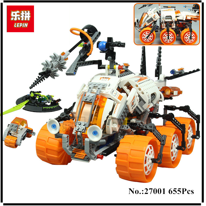 IN STOCK Lepin 27001 655Pcs Mar Mission Space Series The Mt-101 Amoured Drilling Set Educational Building Blocks Bricks Toys ...