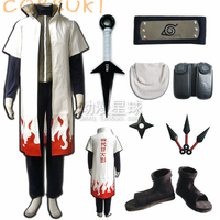 Stock! Naruto Minato Namikaze The Fourth Hokage Full Set Cosplay Costume Suits ,Perfect Custom For you!