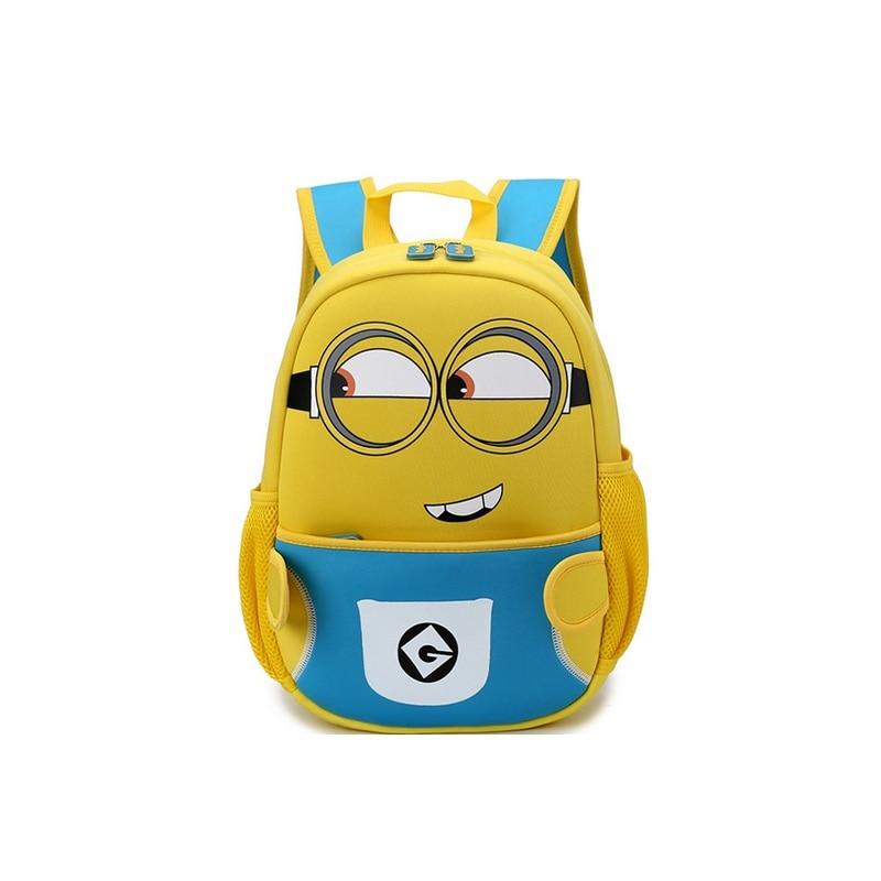 8cb61987ee NEW Fashion Waterproof Neoprene 3D Cartoon Baby Kids School Bag Boy Girl  Panda Minion Backpack School Travel Bags Free Shipping