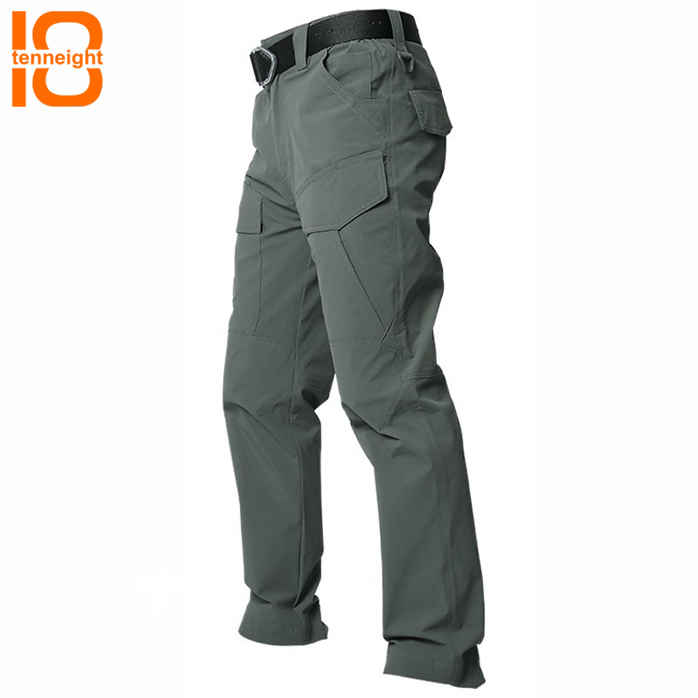 TENNEIGHT Summer hiking pants Men stretch quick-drying Multi-pocket Military Pants Tactical Cargo Pants Cotton Army Trouser rocotactical male military cargo pants city urban tactical pants multi pockets breathable camping hiking pants bdu swat