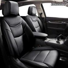 Kokolole housses de siège de voiture en cuir personnalisées, pour Toyota Corolla PRIUS Prado Land Cruiser, RAV4 CROWN Camry Highlander CH R alpha