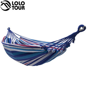 Image 2 - High Strength Thicken Single Canvas Fabric Hammock Garden Sleeping Casual Hamak  Outdoor Hamac  Swing Hamaca Travel 200*100cm