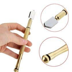 Herramienta de corte punta de diamante mango de Metal antideslizante cuchilla de acero cortador de vidrio de alimentación de aceite