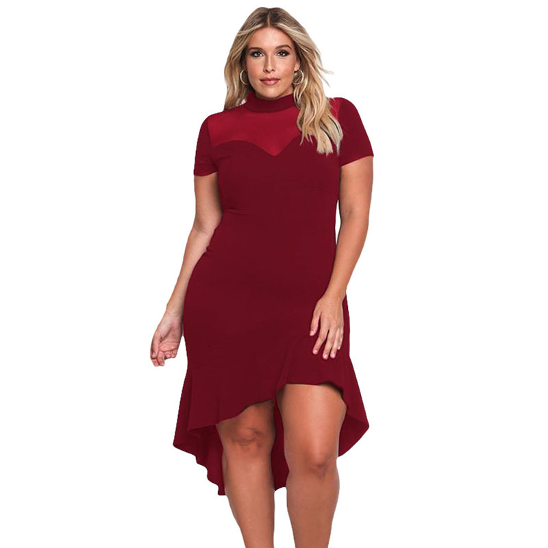 Liva Girl Black Plus Size Party Midi Dress - ქალის ტანსაცმელი - ფოტო 3