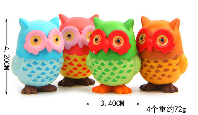 4 pçs/lote venda quente figuras de ação brinquedos bonecas bonito coruja animais dos desenhos animados brinquedos modelos de mesa brinquedos de natal para crianças bonecas