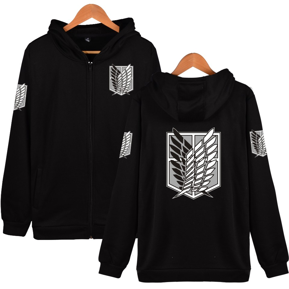 Japan Anime Angriff Auf Titan Hoodies Sweatshirts Mantel Halloween Party Eren Hoodies Kostüm Legion Kleidung Zipper Hoodies