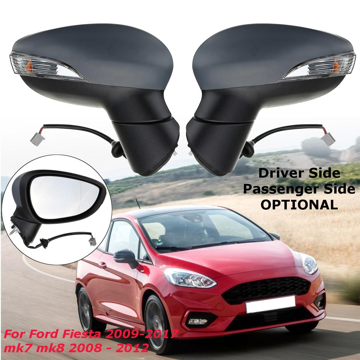 Вправо/влево двери автомобиля Электрический крыло зеркало с подогревом водителя или пассажира для Ford Fiesta 2009-2017 mk7 mk8 2008-2012